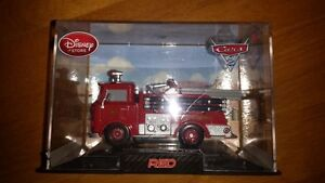 Disney Store Cars 2 Red Diecast with Display