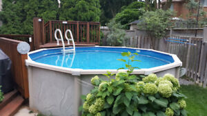 15' Dia Above Ground Pool incl All Accessories