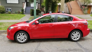 2012 Mazda 3 - Automatic - Red - Roof Rack