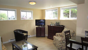 1 Bedroom Fully Furnished and Equipped Basement Apartment