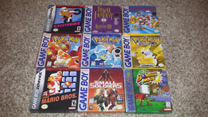 Selling 9 Gameboy, Gameboy Colour, and Gameboy Advance Games!
