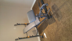 Weight bench plus weights