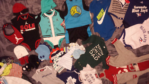 0-6 month baby clothes JORDAN/NIKE/BLUEJAYS/LEAFS AUTHENTIC