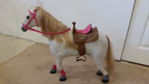 My Life As  white horse and saddle for dolls