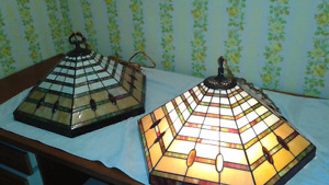 Swag Stained Billiard glass pendant lights