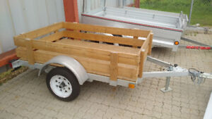 4' x 6' Galvanized Steel trailer with wood deck and sides