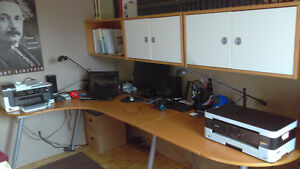 IKEA - L  Shaped Desk w/ 3 Bookcases and more..$ $ Negociable $