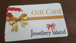 2000$ Gift Card. For 1500$ ..Jewellery Island