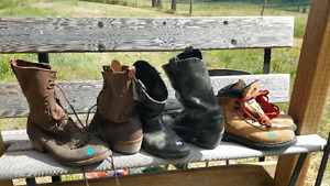 Mens Leather Cowboy Boots & Shirts. Sizes 9 - 14 Boots