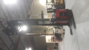 Raymond stand up reach forklift - Newly Certified