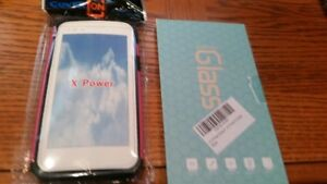 LG X Power  Case and 2 Tempered Glass screen protectors NEW