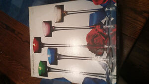 5 Piece Glass Candle Holders