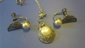 Danecraft, sterling silver necklace and earring set