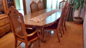 Authentic handcrafted wooden dinning room set