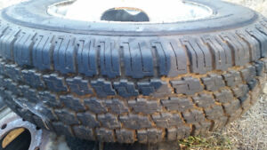 Set of 4, 8.75 X 16.5 LT M+S Radial A/S With duelly Wheels