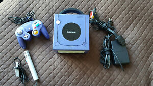 Like-New Purple GameCube + Controller + Microphone + 007 Game
