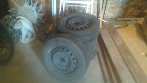 All season tires+rims x4 for 2010 toyota yaris - good condition