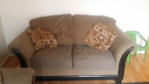 Set of coach and loveseat in good condition