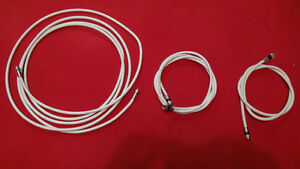 3 Lengths of White Coaxial Cable/Satellite Wire
