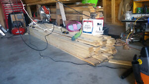 57 pieces of 1x4 strapping. 10 ft length