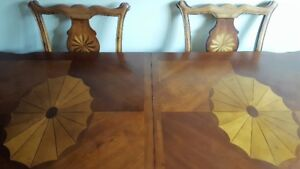 Dining Room Table w/six chairs and Hutch