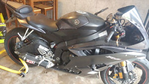 Yzf r6 2007 yamaha charcoal black