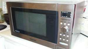 Panasonic stainless steel microwave 1.0 ct