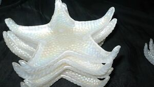 """GORGEOUS SET OF 8 MOTHER OF PEARL GLASS """"STAR FISH PLATES"""" Kitchener / Waterloo Kitchener Area image 7"""