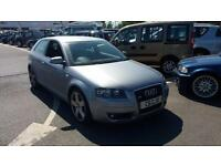 2005 05 AUDI A3 2.0TDI DSG SPORT S-LINE.VERY NICE EXAMPLE.PRIVATE PLATE INCLUDED