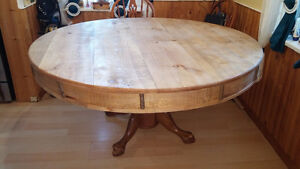 Large Farm Style Dining Table with Poker Table