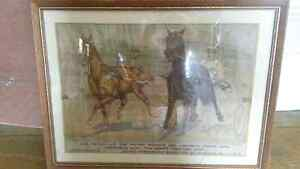 Framed racing picture