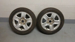 2x 215/55/17 Winter Tires & Rims Good Condition Toyota Venza