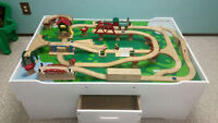 Train Table w/ track and trains