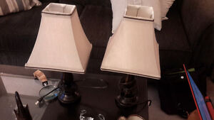 Various table lamps for sale - like new