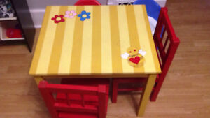 Kids table and chairs