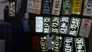"New tires 15"" 16"" Vintage antique muscle car license plates old"
