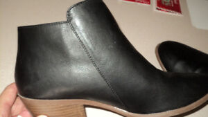 "Women's Size 11,  Black Fashion Boots. 1 1/2"" inch heel"