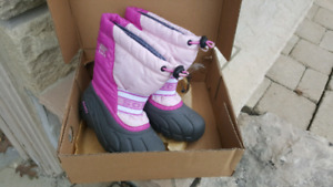 Two Pairs of girls Sorel Boots