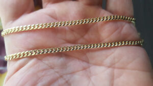 NEW 10KT GOLD CHAINS ( 24 inches)