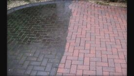 Driveway/patio power cleaning