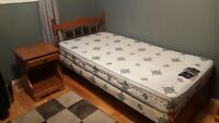 Canadian Made Twin Bedroom Set Solid Wood (Maple)