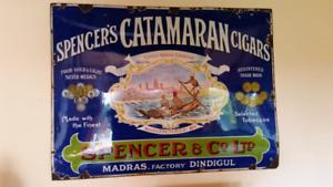 Spencers Catamaran enamel sign