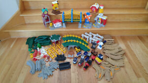 Lot de pièces Fisher Price GEOTRAX - trains - rails