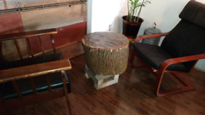 Live Edge Table / Stand-  side, night, coffee , accent table
