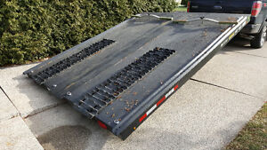 8'x10' Two place tilting snowmobile trailer (steel)