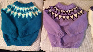 Hand Knit Wool/Acrylic Sweaters Size 6 London Ontario image 1
