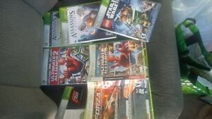 7 xbox 360 games-used