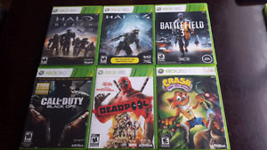 Selling 5 xbox360 games $15 each