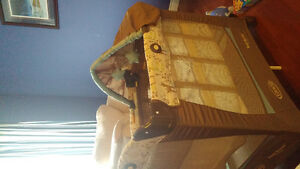 Graco travel bassinet/playyard with stages