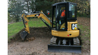 Mini backhoe and excavator services